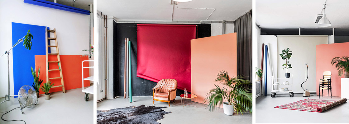 Tageslicht Fotostudio mit vintage Interior und Props